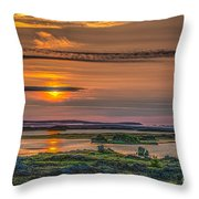 Icelandic Sunset Throw Pillow