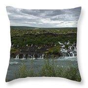 Icelandic Waterfall Throw Pillow
