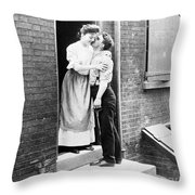 Iceman & Housewife Throw Pillow