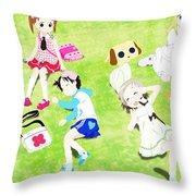 Ichigo Mashimaro Throw Pillow