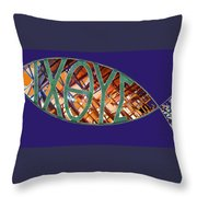 Ichthys Fish Throw Pillow