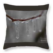 Icicle Focus Throw Pillow