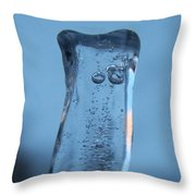 Icicle Reflections Throw Pillow