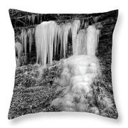 Icicles At Frozen Head Throw Pillow