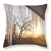 Icicles One Throw Pillow