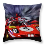 Ickx And Schetty Throw Pillow