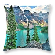 Iconic Banff National Park Attraction Throw Pillow