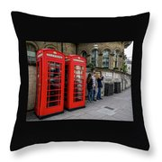 Iconic Booth Throw Pillow