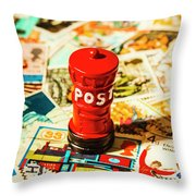 Iconic British Mailbox Throw Pillow