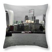 Iconic London Skyline Throw Pillow