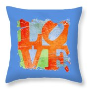 Iconic Love - Grunge Throw Pillow