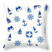 Iconic Nautics Throw Pillow