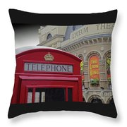 Iconic Postbox And Lyceum Theatre Throw Pillow