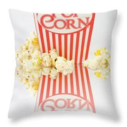 Iconic Striped Popcorn Carton Throw Pillow