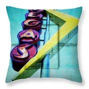 Iconic Vegas Squares Throw Pillow