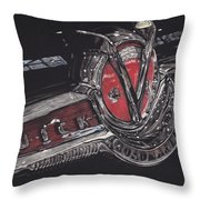 Icons Buick V8 Throw Pillow