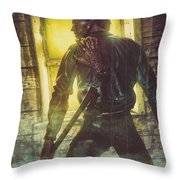 Icons Of Horror Evil Dead Throw Pillow