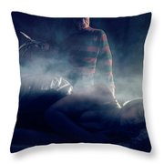 Icons Of Horror Nightmare On Elm Street Throw Pillow