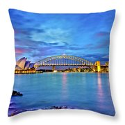 Icons Of Sydney Harbour Throw Pillow