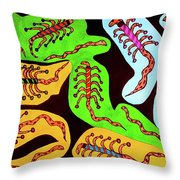Icons Of The Serpent Age Rulers Throw Pillow