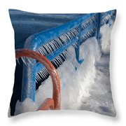 Icy Aftermath Throw Pillow
