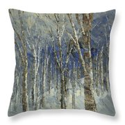 Icy Bells Throw Pillow