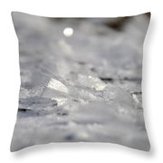 Icy Fairies Throw Pillow