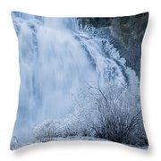 Icy Falls Throw Pillow