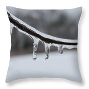 Icy Finger Throw Pillow
