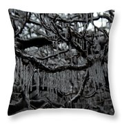 Icy Fingers Throw Pillow