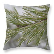Icy Fingers Of The Pine Throw Pillow