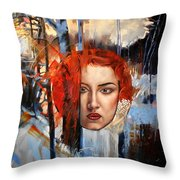 Icy Fire Throw Pillow
