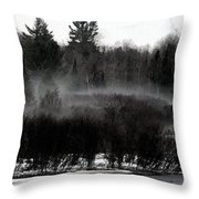Icy Fog Throw Pillow