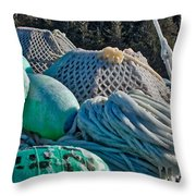 Icy Gear Throw Pillow