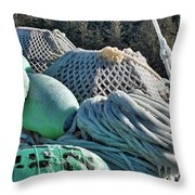 Icy Gear Hdr Throw Pillow