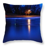 Icy Glow Throw Pillow