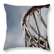 Icy Hoops Throw Pillow