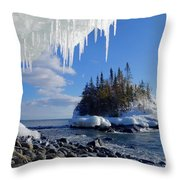 Icy Island View Throw Pillow
