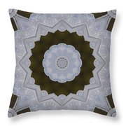Icy Lace Kaleidoscope Throw Pillow