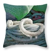 Icy Lines Throw Pillow