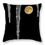 Icy Moon Throw Pillow