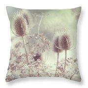 Icy Morning. Wild Grass Throw Pillow