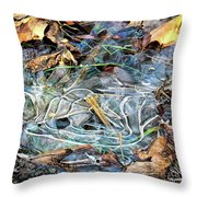 Icy Patterns Throw Pillow