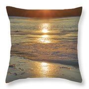 Icy Sunset Throw Pillow by Beth Sawickie