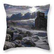 Icy Tundra In Buffalo Throw Pillow