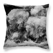 Icy Harmony Throw Pillow