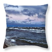 Icy Waters Of Superior Throw Pillow