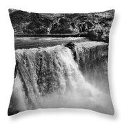 Idaho: Bridal Veil Falls Throw Pillow