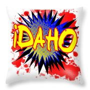 Idaho Comic Exclamation Throw Pillow