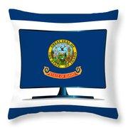 Idaho Flag Tv Throw Pillow